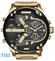 neue marken-luxusuhren großhandel-Luxusuhrmarke Sportmilitär montres Mens neues ursprüngliches reloj großes Vorwahlknopfanzeige diesels passt dz Uhr dz7331 DZ7312 DZ7315 DZ7333 auf