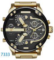 mostrar reloj deportivo al por mayor-Marca de relojes de lujo Deporte militar montres para hombre nuevo reloj original pantalla de dial grande relojes diésel reloj dz7331 DZ7312 DZ7315 DZ7333