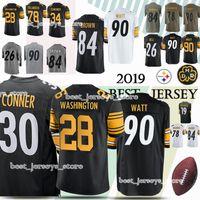 4f32d839a12 7 Ben Pittsburgh jerseys Steeler 90 T.J. Watt 30 James Conner 28 James  Washington 50 Ryan Shazier jersey 2019