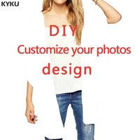 открыть сексуальные картинки оптовых-KYKU Customize Loose Kimono Women DIY Pictures Shawl 3d Print Open Stitch Blouse Sexy Womens Clothing Batwing Sleeve Summer Tops
