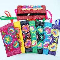 porte-monnaie brodé achat en gros de-Femmes Ethnique Brodé Wristlet Clutch Bag Les Plus Populaires Vintage Purse Portefeuille Polyester fiber pièce Bourse K209