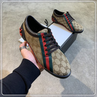 Wholesale sports shoe sales for sale - Group buy 2019 Top Quality FD Luxury designer sneaker shoes genuine leather Gift mens Racer Hot sale Sports casual designer sneakers f101
