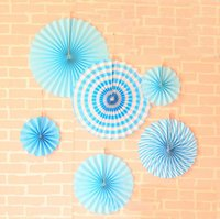 Wholesale birthday wallpaper for sale - Group buy Wedding background wallpaper fan suit decoration wedding birthday party creative paper flower fan