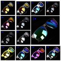 Wholesale sun plastic coating for sale - Group buy 13 colors summer men sunglasses women reflective coating sun glass cycling sports dazzling brand new eyeglasses MMA1858