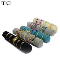 bolsa de rollo de exhibición de joyas al por mayor-5 Color 32 cm Joyería Roll Bag Bolsa Organizador de la Joyería Pulseras Exhibición Reloj Holder Joyería Tubo de Almacenamiento Al Por Mayor
