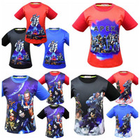 Wholesale hot funny games online - 12 Styles Baby Boys Apex Legends T shirts Cotton Hiphop Funny Summer Shirt Hot Game Cosplay Clothes Home Clothing CCA11355