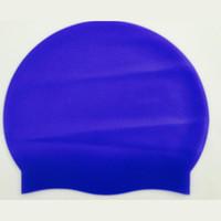 natación de silicona gorras niños al por mayor-Kids Unisex Fashion Soft Silicone Round Solid Ear Niños 50 g Protección Natación Niños Gorra