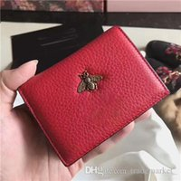 Wholesale large clutch wallets resale online - Ladies designer cowhide leather long change handbag zipper wallet clutch bag card package