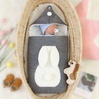 mantas de bebé caliente invierno al por mayor-Caliente del invierno del cochecito de bebé recién nacido Swaddle Manta sacos de dormir de punto de dibujos animados para niños pequeños Mantas para bebé