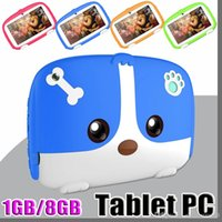 Wholesale tablet 1gb ram 8gb rom resale online - 2019 Kids Brand Tablet PC quot inch Quad Core children Cute cartoon dog tablet Android Allwinner A33 google player GB RAM GB ROM