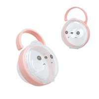 Wholesale baby pacifiers pink resale online - Baby Solid Transparent dust suspensible Pacifier Box Soother Container Travel Storage Case Safe PP Holder