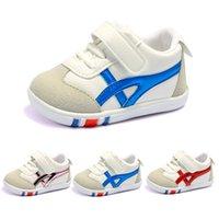 çocuklar ilk yürümeye başlayan ayakkabılar toptan satış-Boyutu 11.5-14.5 cm Toddler Tasarımcı Ayakkabı Çocuklar Spor Ayakkabı Bebek İlk Yürüyüş Sneakers Erkek Kız Açık Nefes Rahat spor Ayakkabı