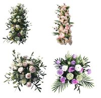 Wholesale silk roads for sale - Group buy Wedding props and flowers Wedding silk flower Simulated Hydrangea Stage decoration flower Simulated Flower of T platform Road Guide