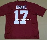 jersey china fábrica venda por atacado-jerseys Alabama Crimson Tide Football Factory Outlet- queniano Drake # 17 universitários homens frete grátis China atacado esporte autêntico baratos