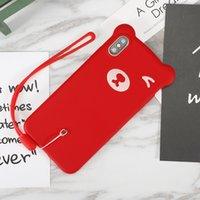 Wholesale samsung cases bear for sale – best Cute Bear Phone Case For iPhone X XR XS MAX Silicone Case With Lanyard For iPhone Plus