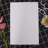 ingrosso lattine bianche-Commercio all'ingrosso UV bianco targa in metallo segno targa in metallo sublimazione auto in metallo bianco targa a caldo cuore stampa transfer fai da te personalizzati di consumo