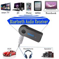 carro do telefone usb venda por atacado-Hot Bluetooth Car Adapter Receiver 3.5mm Aux Stereo Wireless USB Mini Bluetooth Audio Music Receiver Para Smart Phone MP3 Com pacote de varejo