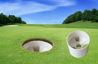 agujero de bola de plástico al por mayor-vaso de plástico putts5 equipo de golf bola de golf agujero de copa