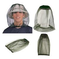 yürüyüş kapakları toptan satış-Açık Yürüyüş Cibinlik Cap Yaratıcı Kamp Seyahat Kafa Böcek Kanıtı Siyah-Yeşil Basit Moda Balıkçılık Hat TA-TA1082 Caps