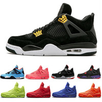 Wholesale black purple tattoo resale online - 2019 New Arrival Bred Pale Citron Tattoo IV s Men Basketball Shoes Pizzeria Singles Day Royalty Black Cat Mens Trainers Designer Sneakers