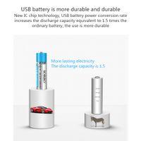 aa şarj edilebilir piller usb toptan satış-SORBO AA 1200mAh Li-Polimer Li-Po USB şarj edilebilir lityum lityum iyon USB Pil Lityum polimer pil