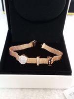 Wholesale bracelet clasps fit clips resale online - Sale Hot Sale European Fits for Beads Silver Bracelets for pandora style bracelet jewelry female mesh clip charm reflection crown clip