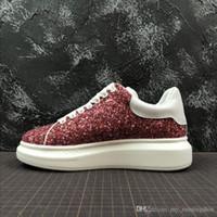 arte reina al por mayor-2019 Nuevo Lentejuelas Para Hombre Para Mujer Queen Zapato Hermoso Plataforma Zapatillas Casual Diseñadores de lujo Zapatos de terciopelo Colores sólidos
