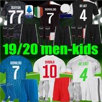 reklam gömlek toptan satış-Erkekler Çocuklar 2019 2020 Müşterek adı RONALDO JUVENTUS Futbol Jersey 19 20 SARAY DE ligt DYBALA kaleci JUVE erkek kitleri Futbol forma Gömlek