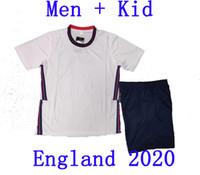 equipos de fútbol al por mayor-2020 Reino Unido fútbol jerseys + Hombres fútbol camisa de los niños Kit 20 21 KANE STERLING Vardy Rashford fútbol nacional de fútbol Establece Traje deportivo