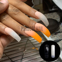 Wholesale false nails french packs resale online - Empress Curve Tapered Extra Long French Nail Tips Acrylic Gel Salon False Tip Nails Pack of