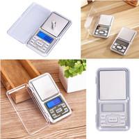 skalen gramm großhandel-Wiegen Sie hohe Präzision ultradünne digitale tragbare Taschen-Schmuck-Skala-Nahrungsmittelküchen-Skala 500 x 0,1 Gramm