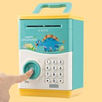 Wholesale electronics money for sale - Group buy Electronic Piggy Bank Mini ATM Coin Money Saving Box for Children Toys Automatic Fingerprint Open