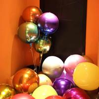 ingrosso animali di palloncino gonfiabili in plastica-Palloncino 4D Happy Birthday Celebration Decorazione graduale decolorazione circolare alluminio Palloncino per rivestimento Festival Party Balloon
