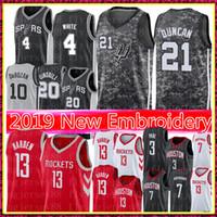 5ab59ce3efae James 13 Harden Chris   Paul Jersey NCAA Tim 21 Duncan Demar 10 DeRozan  Derrick 4 White Basketball Jerseys Mens University