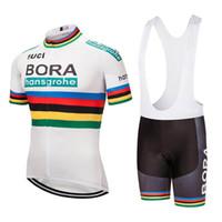ingrosso jersey uci-UCI team 2019 pro team BORA ciclismo maglia 9D Gel pad Bike pantaloncini tuta uomo ropa ciclismo estate abbigliamento ciclismo BICICLETTA jersey kit