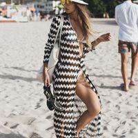 ingrosso l'abito avvolge le donne-New Lace Beach Coprire Sarong Beach Wrap Pareos Para Playa 2019 Costumi da bagno Coprire Donne Robe Plage Caftano Dress