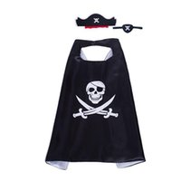 ingrosso costume del pirata del film-1 Set Costumi da pirata del capitano kawaii Maschere per feste Costume per bambini Costume operato Halloween Giocattoli di Natale Costume da film per feste in cartone animato