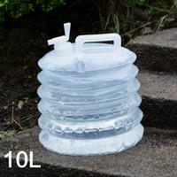 su çantası satışı toptan satış-Sıcak Satış Büyük Kapasiteli 10L Taşınabilir Su Depolama Kova Açık Kamp Yürüyüş Piknik Parti Katlanır Su Varil Hidrasyon Paketi Su Torbası