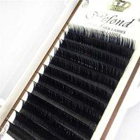 extensions de cils soie curl achat en gros de-Soie cils plus doux que le vison J / B / C / D Curl 8-14mm Faux extensions en soie Faux cils OEM de cils de maquillage Cilia