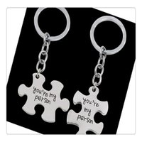 Wholesale girls toy keychain photos resale online - Puzzle Toys You Are My Person Lover Keychain Toy Accessories For Lovers Ring Holder Best Friends Gifts Kids