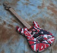 Wholesale st guitar floyd resale online - Custom Shop Masterbuilt Eddie Van Halen Frankenstein Heavy Relic Red ST Electric Guitar Floyd Rose Tremolo Bare Pickups Schaller Tuners