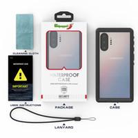 ip68 kılıf toptan satış-IP68 Su Geçirmez Kılıf Samsung Galaxy Için Note10 Artı Vaka Dalış Yüzme Suya Dayanıklı Dalış Kapak Samsung Not Için 10 + Kabuk