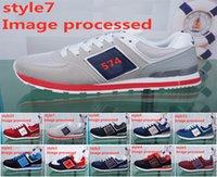kore koşu toptan satış-ABD marka erkek ayakkabı Başkanlar koşu ayakkabıları N mektup logo Nefes koşu sneakers kadın Kore versiyonu vahşi rahat Ayakkabılar