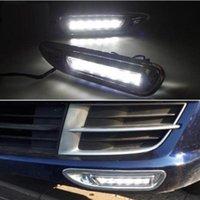ingrosso luci correnti diurne mazda-Per Mazda 6 Mazda6 2008 2009 2010, con copertura in ABS cromato Car DRL Impermeabile ABS DC 12V LED Daytime Running Light Daylight