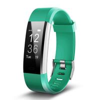 Wholesale heart rate wristwatch for sale – best ID115PLUS GPS Smart Bracelet Heart Rate Monitor Waterproof Smart Watch Fitness Tracker Wristwatch Wearable For IOS Android Phone Watch
