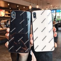 iphone bedeckt licht großhandel-Fashion Trend White Light Glastasche für iPhone 6 6s 7 8 8plus XR X Rückseite für Apple iPhone X XR 7plus Hülle für iPhone XS max