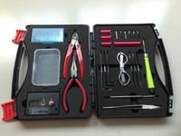 caixa diy kit venda por atacado-ferramentas de e-cig Professional kit vara mágica bobina caixa de ferramentas DIY cw Mestre Vape fio máquina de bobinamento Koiler Kit kit ferramenta de E-cig
