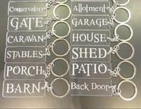 Wholesale laser acrylic engraving resale online - Monogram acrylic transparent plate key ring laser engraved acrylic named keychain for organization label