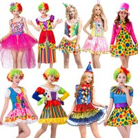 Wholesale black ball gowns adult for sale - Group buy Halloween Party Carnival Adult Female Circus Clown Costume Female sexy Cosplay Costume Fancy Dress Ball Gown