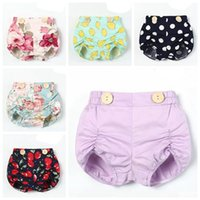 Wholesale diapers girls 12 resale online - 2019 spring summer baby girl shorts floral bloomers little girls clothing infant kids pp pants dot diaper covers boutique toddler clothes